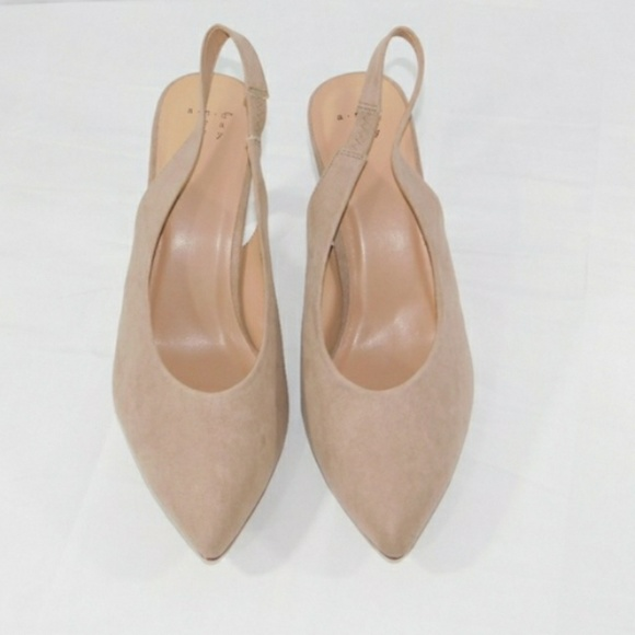 a new day Shoes - Tan Nude Kitten Heels Slingback